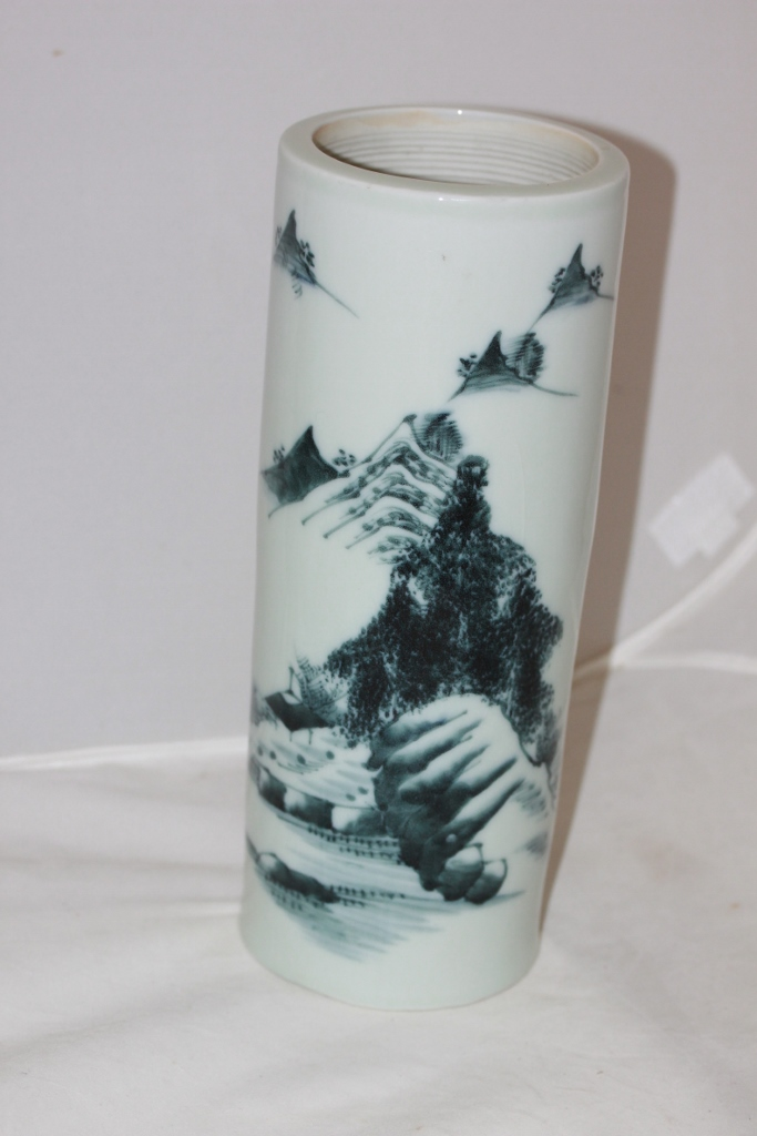 Antique Chinese Tall Porcelain Brush Pot