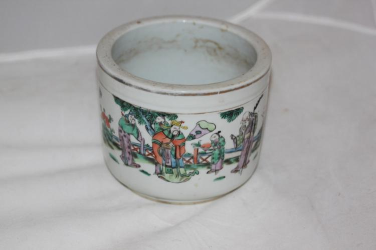 Antique Chinese Famille Rose Porcelain Pot
