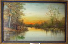 Geraldine Smith Landscape Oil on Canvas