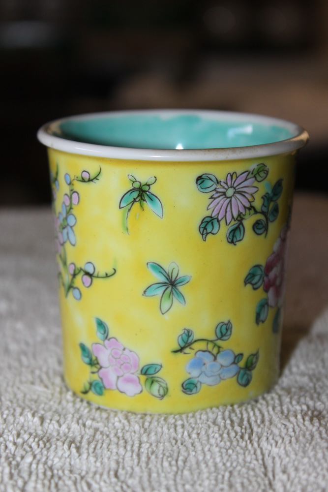 Early 20th C Chinese Yellow Cup