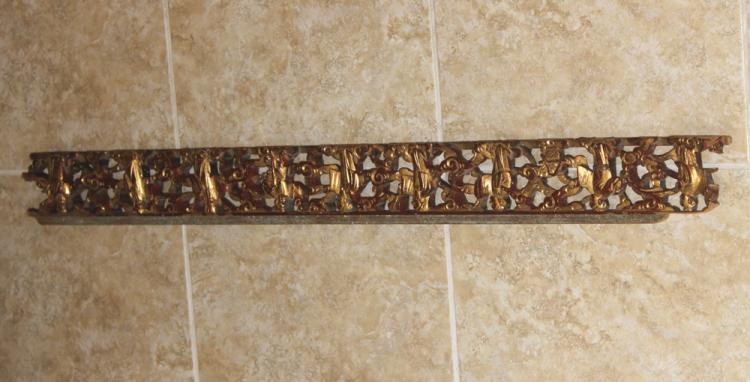 Antique Chinese Gilt Gold Panel