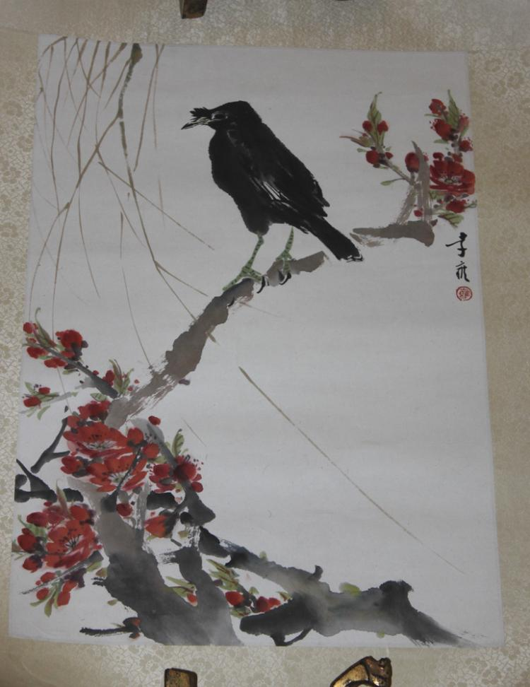 Chinese Hand Painted Bird Painting