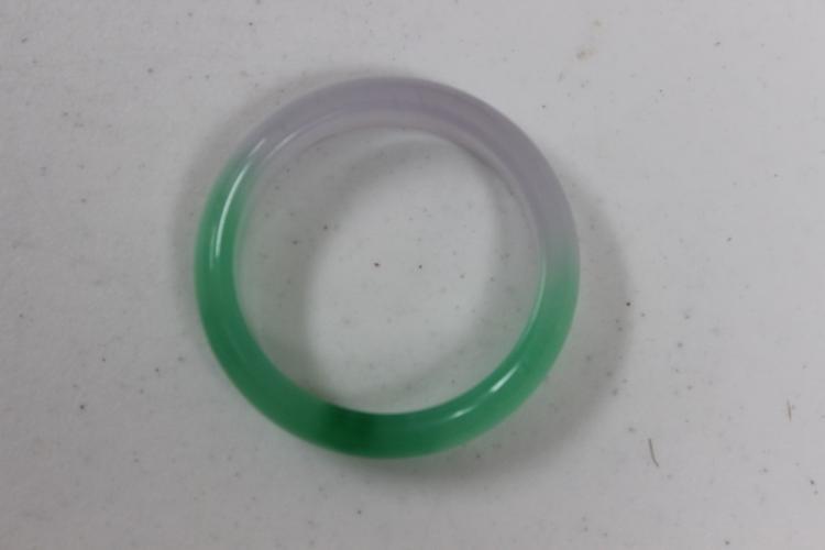 Lavender and Green Jadeite Bangle Bracelet