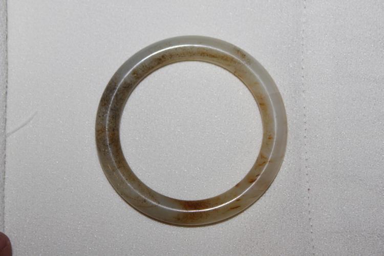 White Jade Bangle Bracelet