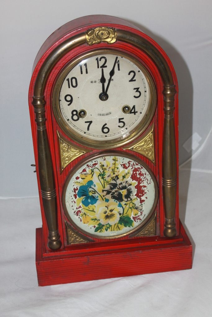 Antique Chinese Marriage Clock Working Condition