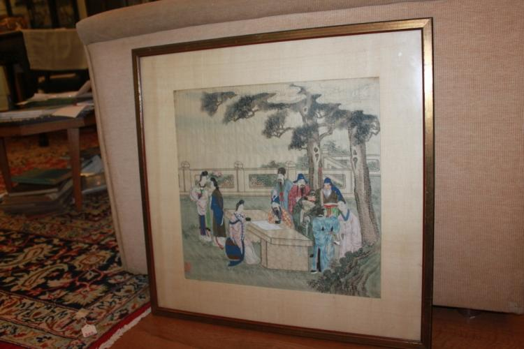 Chinese Framed Watercolor Painting