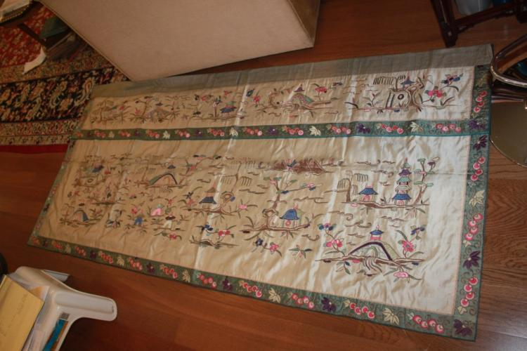 Large Antique Chinese Embroidery