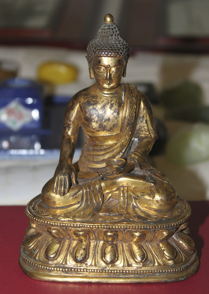 Antique Chinese Heavy Gold Gilt Bronze