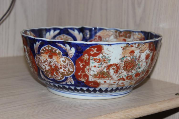 Antique Large Japanese Imari Bowl