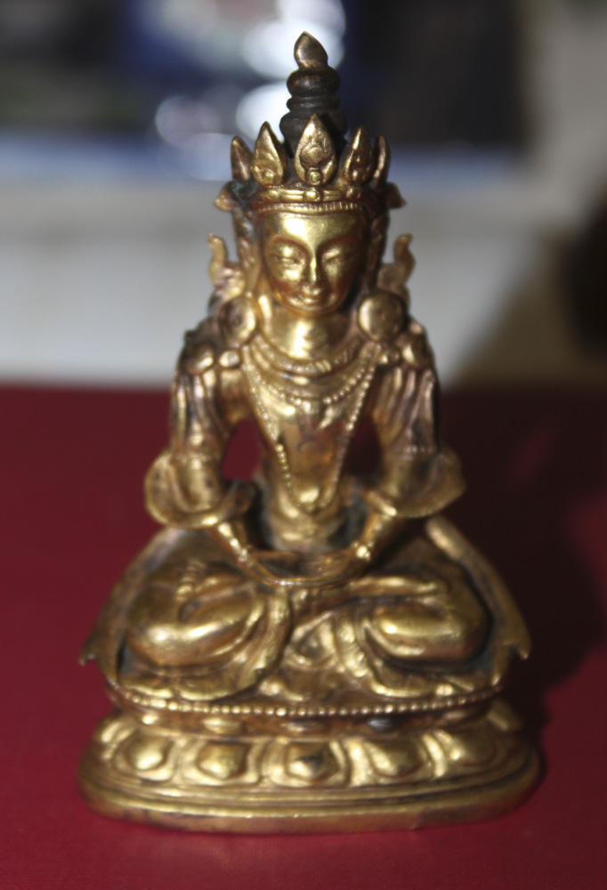 Small Rare Antique Chinese Gold Gilt Bronze
