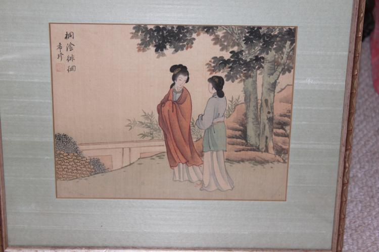 Antique Chinese Pastel on Silk