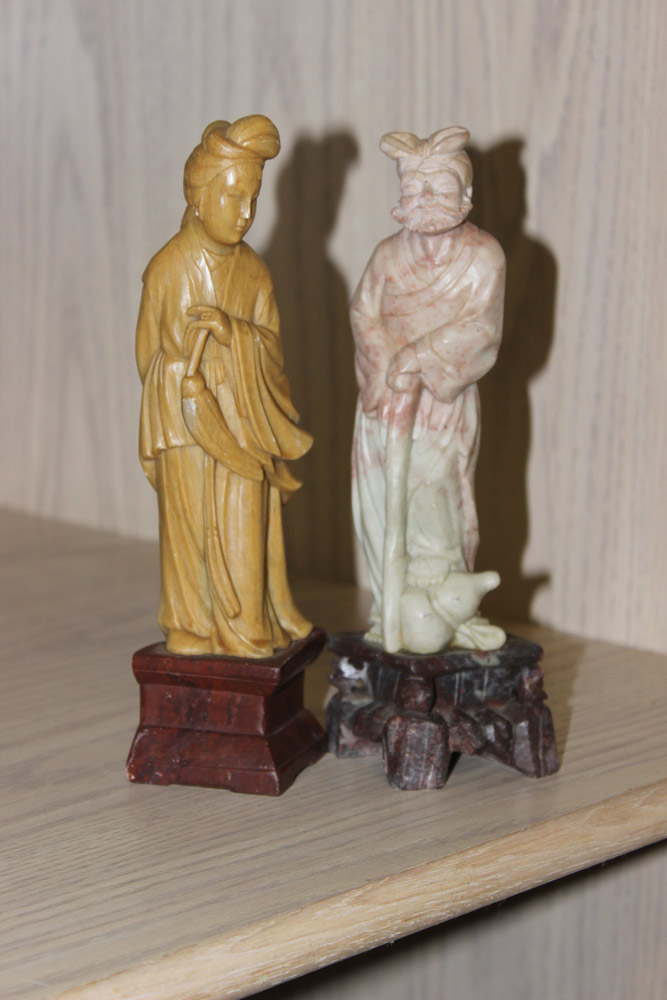 Lot of 2 Vintage Chinese Soapstones