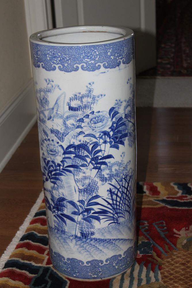 Antique Japanese Porcelain Umbrella Stand