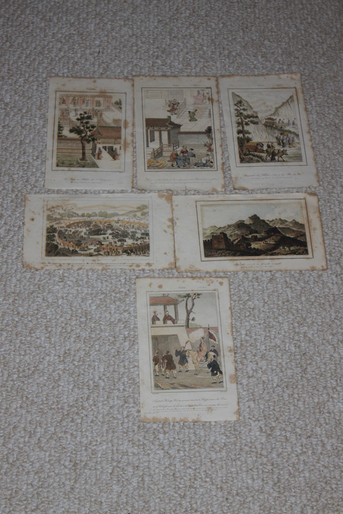 Lot of 6 19th C French Engravings / Prints