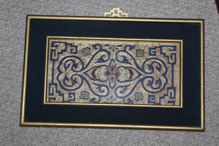 Framed Silk art