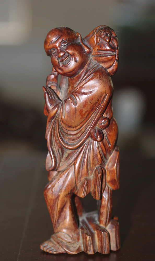 Antique / Vintage Chinese Box with Figure of Sage