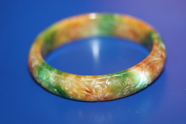 Carved Jade Bangle bracelet
