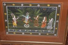 Antique Indian / Persian Pastel Painting