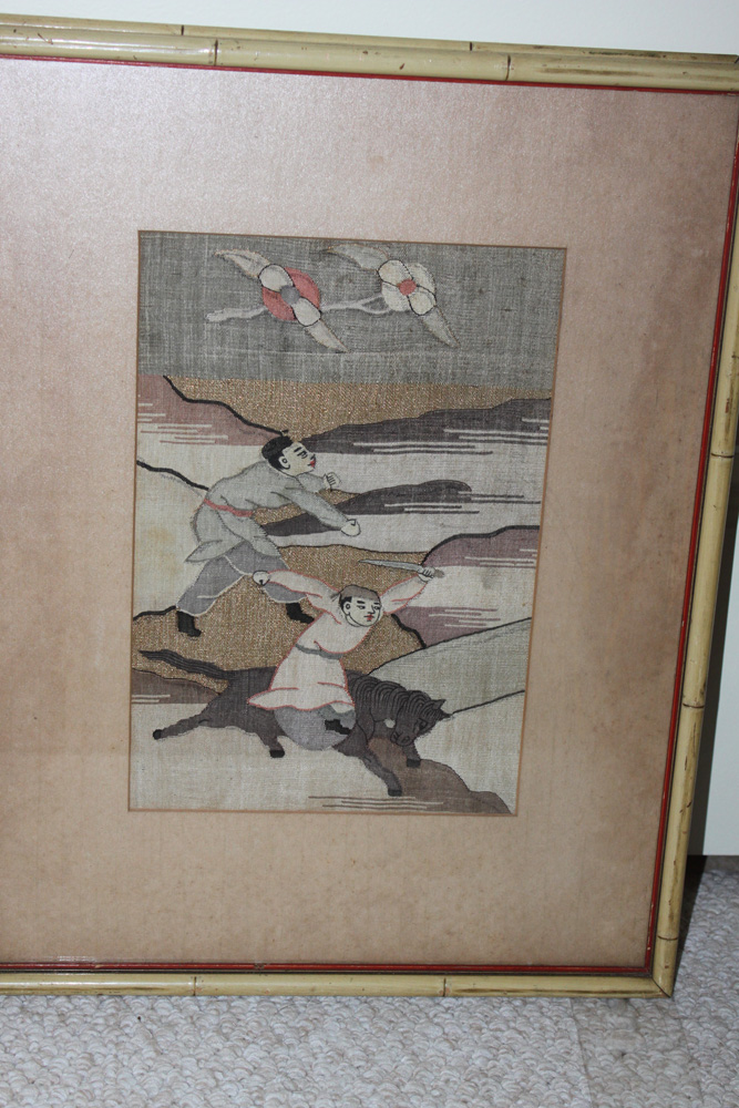 Antique Chinese 19th / 20th C Kesi Painting