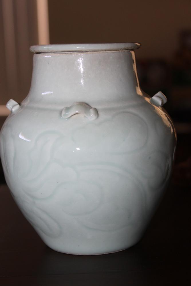Antique / Vintage Chinese Celadon Glazed Jar