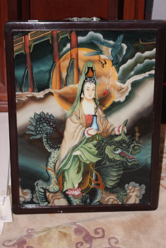 20th C Chinese Reverse Painting on Glass
