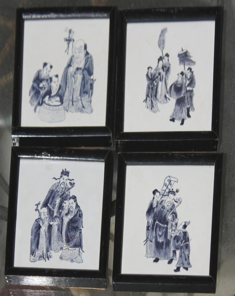 Set of 4 Chinese / Asian Ceramic / Porcelain Plaque