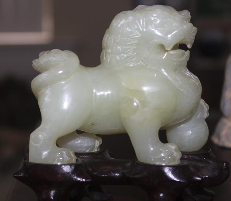 Antique / Vintage Chinese Jade Lion or Foo Dog