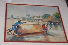 Watercolor Painting by Prasert