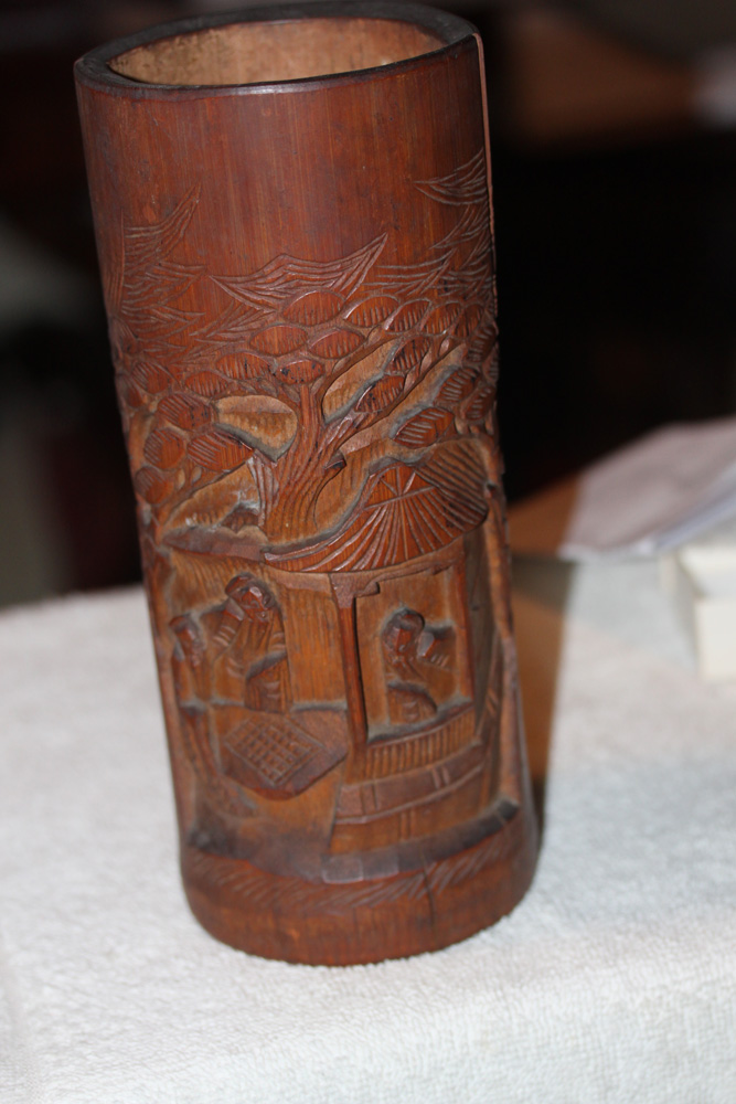 Antique Chinese Bamboo Brush Holder