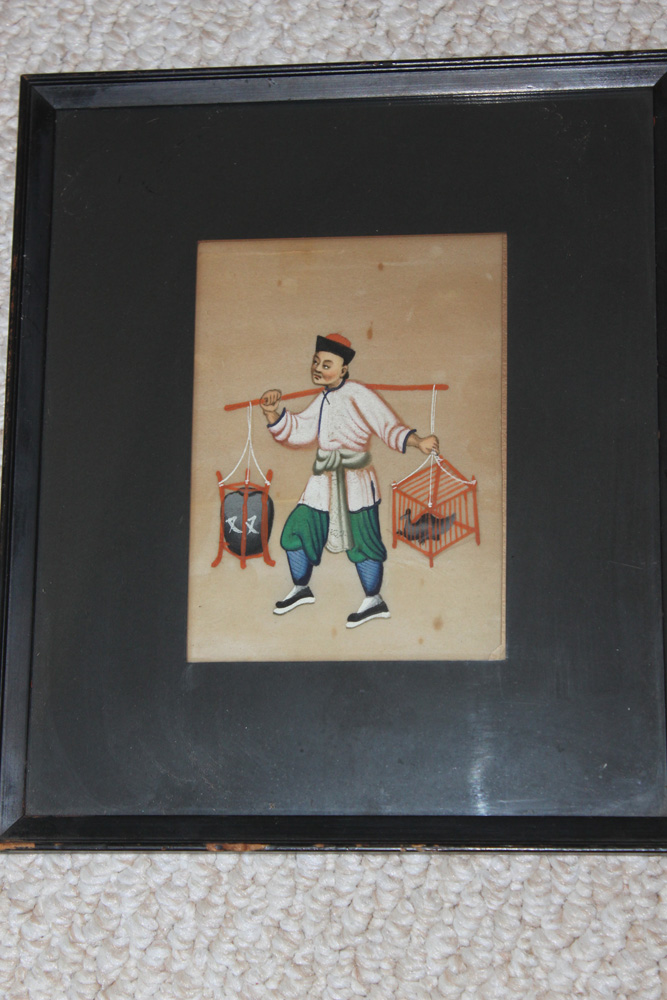 19th C Chinese Pastel Painting on Rice Paper