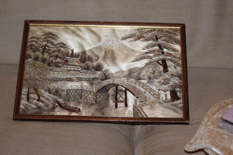 Antique Japanese Golden Silk Embroidery