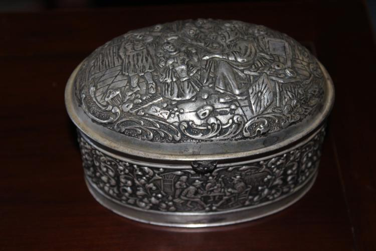Antique 19th / 20th C Silverplated Repousse Box