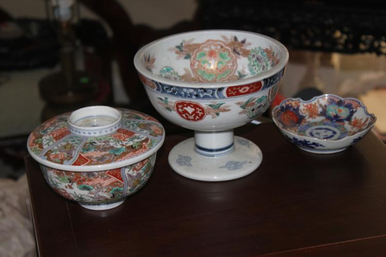 Lot of 3 Japanese Imari Pieces