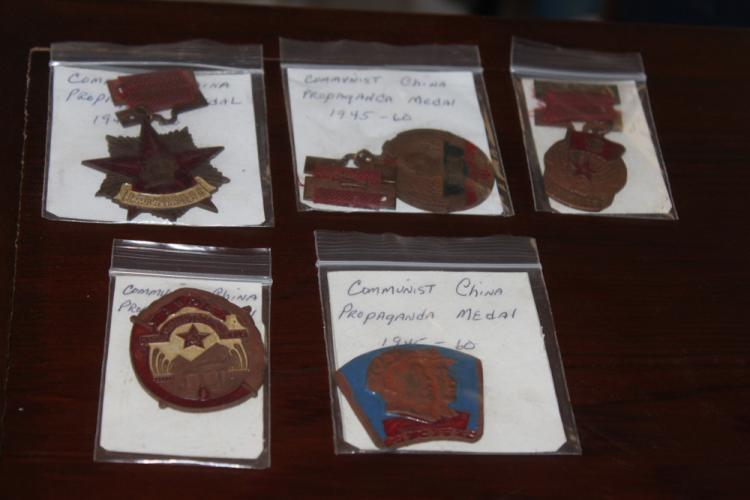 Lot of 5 Chinese Communist Party Medals