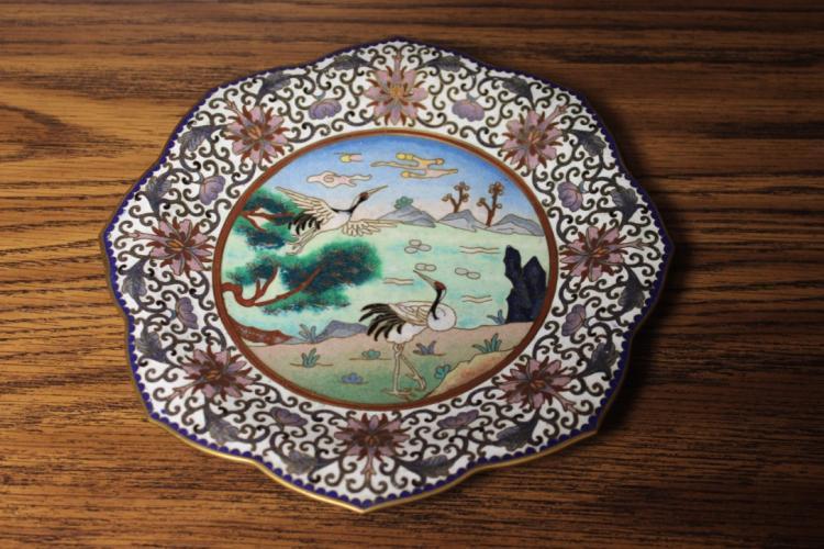 Antique / Vintage Chinese Cloisonne Plate