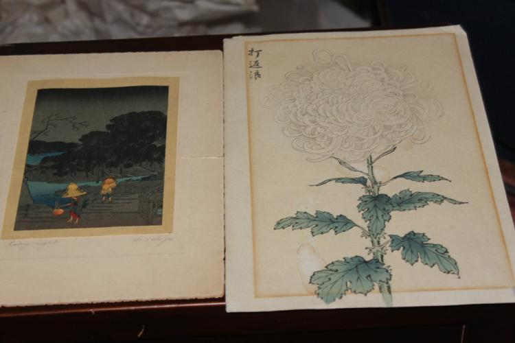 Lot of Two Japanese Woodblock Prints