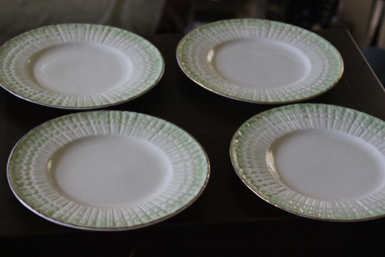Set of 4 Antique Belleek Salad Plates