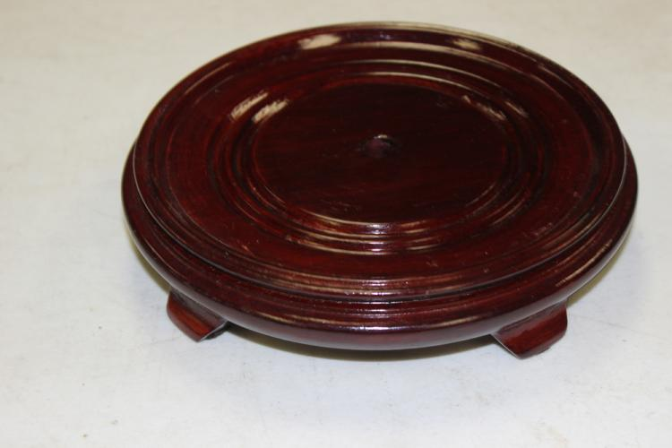 Round Wood Stand