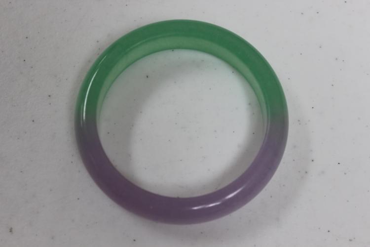 Green and Lavender Jadeite Bangle Bracelet