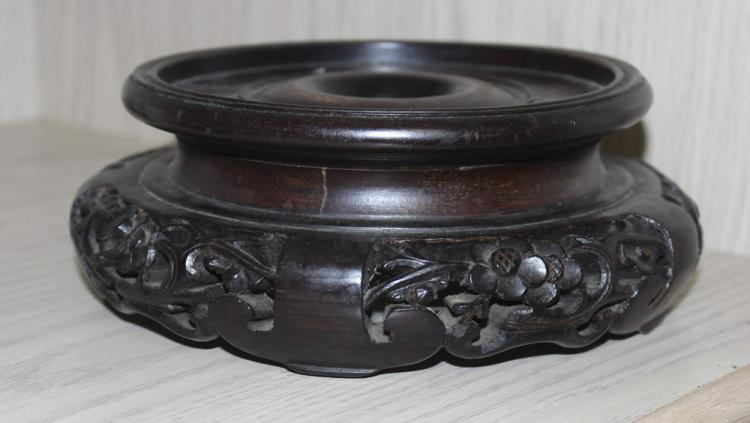 Very Well Carved Chinese Vase Stand