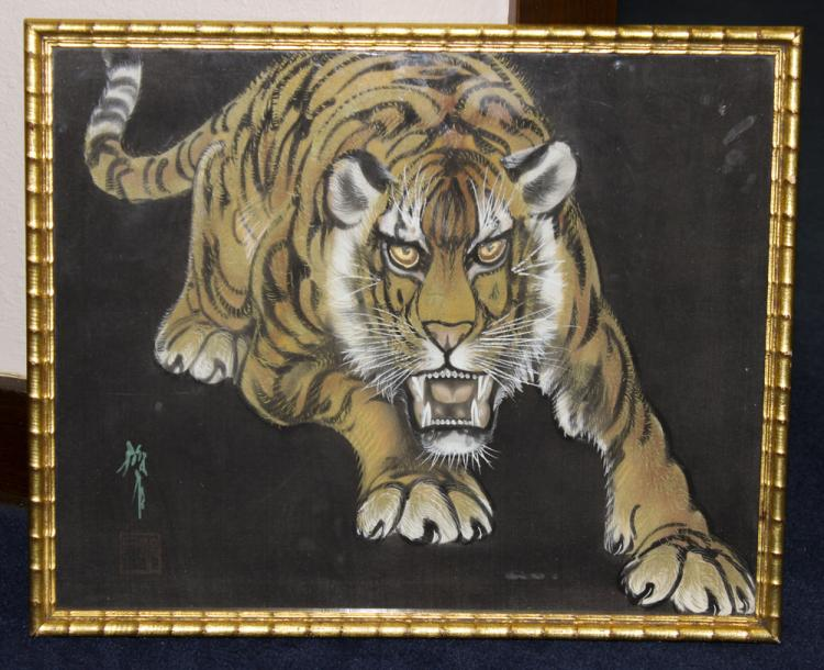 Antique / Vintage Chinese / Asian Pastel on Silk