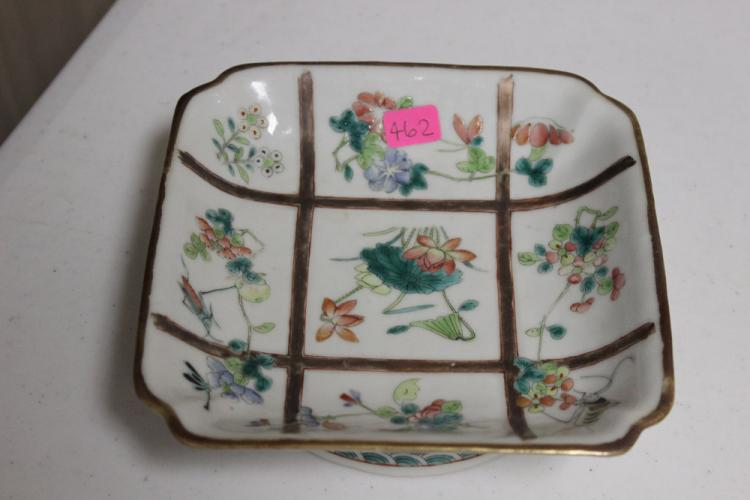 Antique Chinese Square Plate