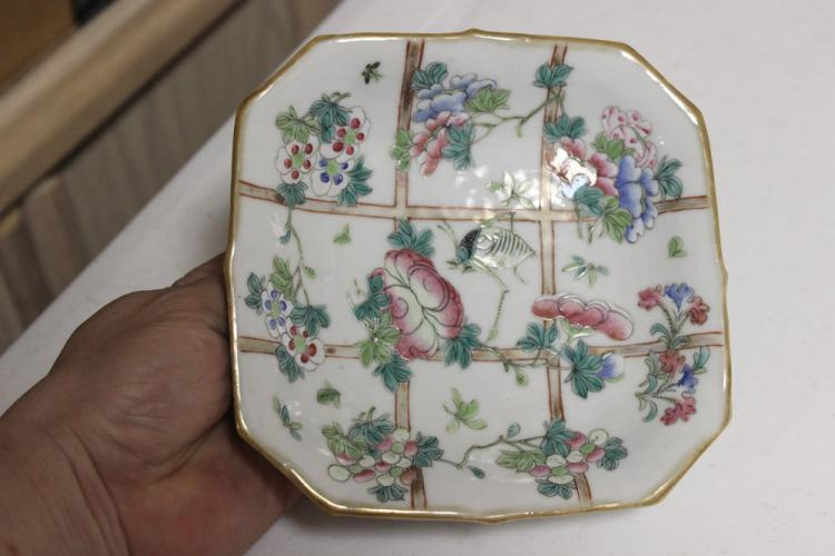 Antique Chinese Square Dish