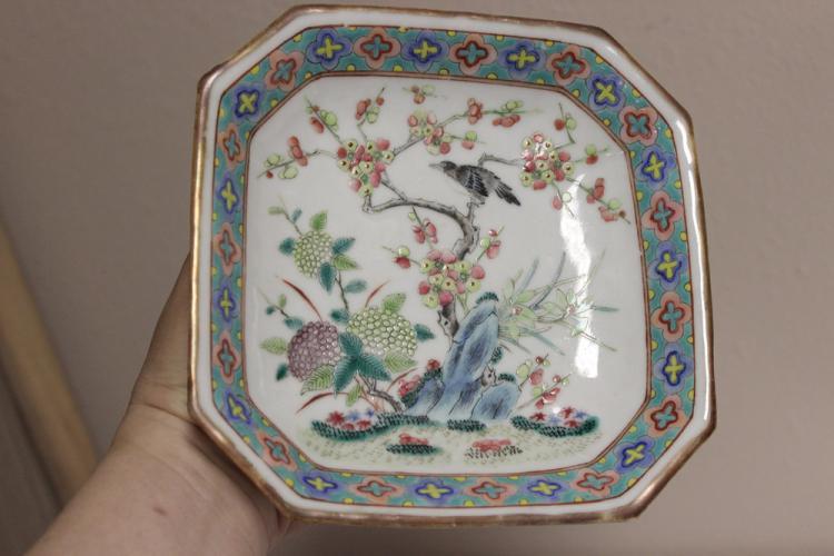 Antique Chinese Square Dish