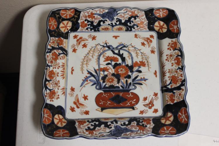 19th C Imari Square Plate