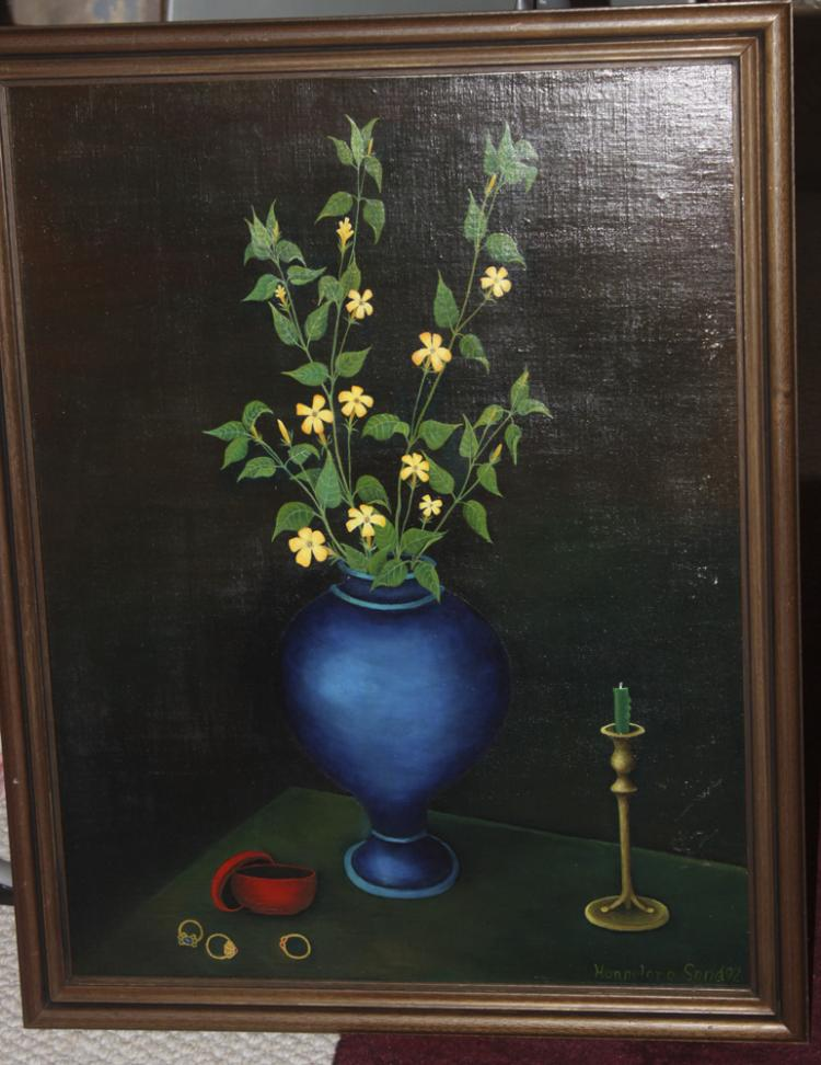 American Artist Hannalore Sand Oil on Linen Still Life