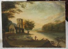 Antique 19th C Hudson River School Painting
