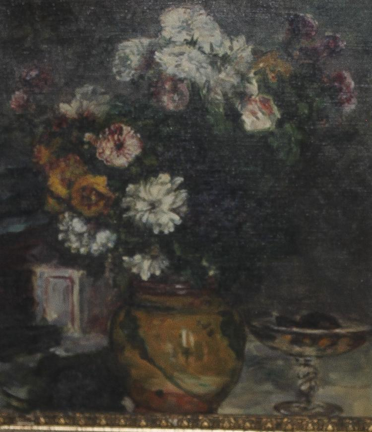 Antique / Vintage Oil on Canvas of Flower