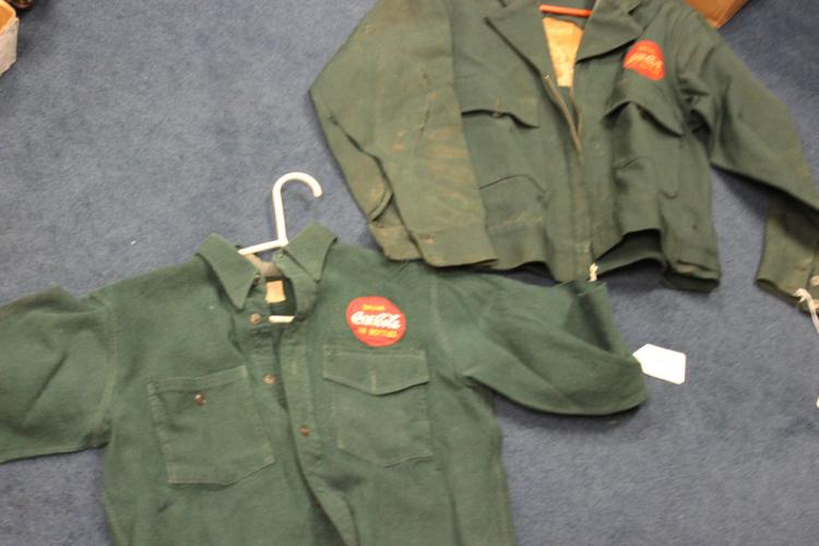 Two Vintage Coca Cola 50s Delivery Jackets