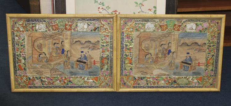 Pair of Chinese Paintings on Paper